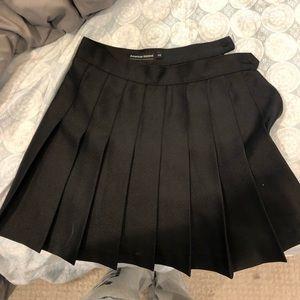 XS American Apparel black tennis skirt